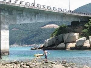 13メートル位ある大橋